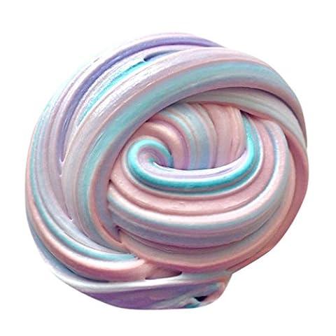 Fluffy Slime Kinder Spielzeug Fluffy Slime Floam Slime Duft Stress Relief No Borax Kinder Spielzeug Schlamm Spielzeug (Mehrfarbig: C)