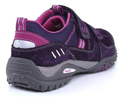 Super fit 5-00224-53 mermaiden velcro/chiuseuomo semi scarpa sportiva d'acero Rosso (Rot (Lila))