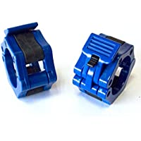 1 Coppia di 2 inch/50mm Quick Release Olimpico Lock-mascella Dimensioni Bilanciere morsetto collare Bar ABS blu - Manopole Modellata