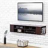 FITUEYES TV Board Lowboard Hängeschrank Fernsehschrank Mediawand Wandschrank 120x30x26cm holz Walnuss Farbe DS212001WB