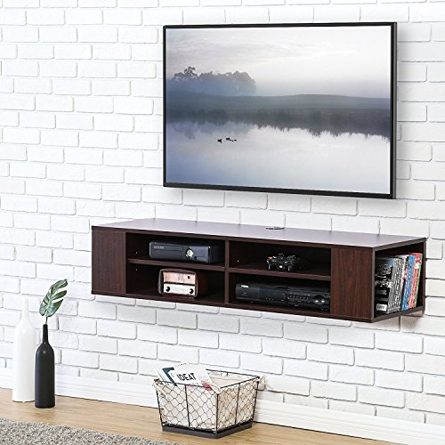 Fitueyes legno mobile porta tv per audio video color noce ds212001wb