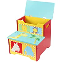 lyrlody Storage Cabinet Stool,Storage Cabinet Large Capacity Cartoon Animal Storage Stool Can Sit MDF Children Toy Storage Box
