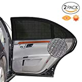 Alintor 2er-Pack Auto Sonnenschutz, UV Schutz Sonnenrollo für Kinder Baby Erwachsene Haustiere, Tragbare Auto Sonnenschutzrollos, 40