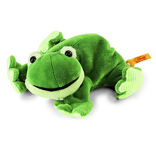 Steiff 281235 - Cappy Frosch - Liegend, Plüschtier, 16 cm, grün