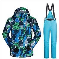 Jiuyizhe Chaqueta de esquí Impermeable a Prueba de Viento Mountain Suit para Hombres (Color : 03, Size : XL)