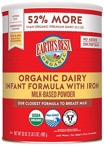De la Tierra Mejor Orgánica leche maternizada con hierro