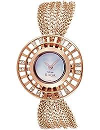 Titan Raga Analog White Dial Women's Watch - NE9931WM01J