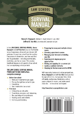 Law School Survival Manual: From LSAT to Bar Exam