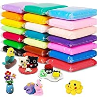 Nikansh Creations Kids Activity Toys (Color Fluffy Foam Clay with Tools, Pack of 12)