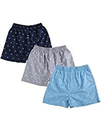 The Cotton Company Men's Cotton Boxer (Pack Of 3) (Boxers013_M_Plane_P3)