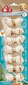 8 in 1 Dental Delights XS - Os à Mâcher Enrichi en Minéraux pour Chien de Petite Taille - 7 pièces