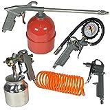 Zubehör Luft vom Kompressor Kit Werkzeug flexiblen Aufblasen der Reifen sprühen das Bolzenschußgerät, 5PC Set