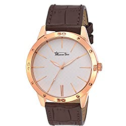 Roman Star Mens N-1139 Brown Coloured With Brown Leather Strap Analog Quartz Watch