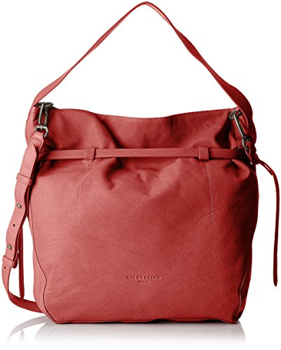 Liebeskind Berlin Damen Lincoln Vinlux Tote, Rot (Phonebox Red), 12 x 40 x 43 cm (Hobo Handtasche Slouchy)