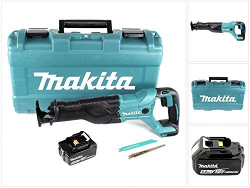Preisvergleich Produktbild Makita DJR 186 T1K 18 V Li-Ion Akku Säbelsäge Reciprosäge im Transportkoffer - mit 1x BL 1850 5,0 Ah Akku, ohne Ladegerät