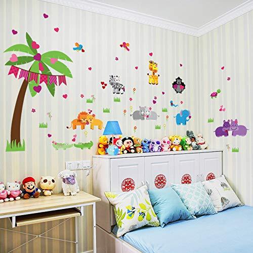 aufkleber Kinderzimmer Wohnkultur Wald Tiere Vinyl Kinderzimmer Aufkleber Baby Kinderzimmer Dekor ()