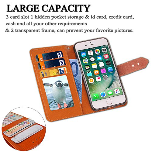 AddGuan ,Apple iPhone 6/6S Plus Case,Clamshell portafogli PU Cuoio Alta Qualità[Carta Slot ][vera pelle fermaglio]Creative Foldable Stand Adatto Per Apple iPhone 6/6S Plus Case (Blu) Blu