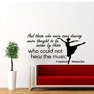 wandtattoo zitat ballett tanzen ballerina tanz spr che wandaufkleber spruch vinyl aufkleber. Black Bedroom Furniture Sets. Home Design Ideas
