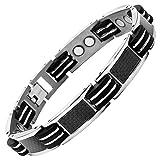 Nouveauté : Bracelet Aimanté homme en titane et Incrustations de fibre carbone...