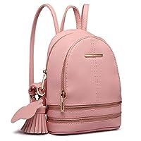 Miss Lulu Women Casual Cute Saffiano PU Leather Waterproof Backpack School bags