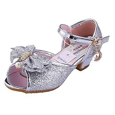 tyidalin sandales ceremonie fille chaussure talon enfant ballerine princesse paillettes pour. Black Bedroom Furniture Sets. Home Design Ideas
