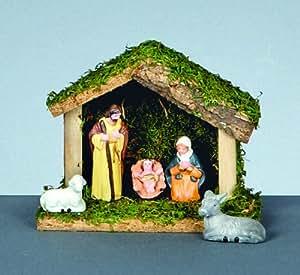 Christmas Nativity Set - 5 Piece Wooden Nativity Scene ...
