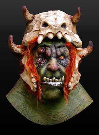 Kostüm Halloween Orkberserker Maske aus Latex