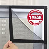 sai praseeda Velcro Window Mosquito Net (4ft, Black)