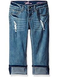 Lee Girls' 5 Pocket Cuff Jeans