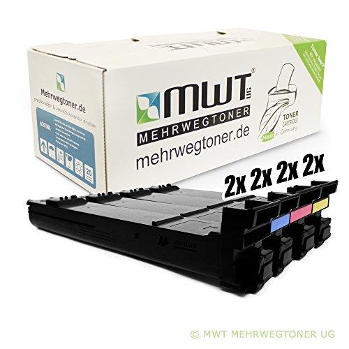 8x Kraft Office Supplies Toner für Konica Minolta Magicolor 5500 5550 5570 5650 5670 DT DH D DTH EN DTHF ersetzt (5650en-drucker)