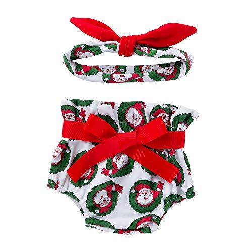 Venmo Kleinkind Baby Mädchen Bowknot Weihnachtsmann Bloomer Windel Unterwäsche Windel Festzug Kleid Kostüme Karneval Fasching Ballettkleid Party Hochzeit Tutu Strampler Kleid