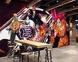 3D Naruto Wukong One Piece 11 Japan Anime Fond d'écran Mur Peintures Murales Amovible Murale | Auto-adhésif Papier Peint FR Summer (Vinyle (sans colle et amovible), 【 82'x58'】208x146cm(WxH))