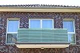 Dunkelgrün&Weiß 7 x 0,9m Balkonsichtschutz, Balkonverkleidung, Windschutz, Sichtschutz und UV-Schutz für Balkon, Gartenanlagen, Camping und Freizeit