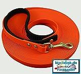 bio-leine 10 m Schleppleine aus Biothane® für kleine und große Hunde 12mm breit