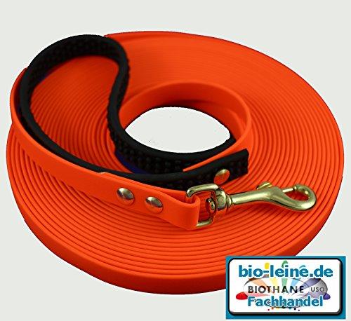 Biothane Schleppleine Orange 12 mm breit 10m