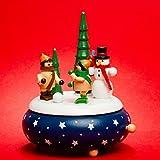 SIKORA SD04 Spieldose / Spieluhr für Weihnachten aus Holz mit Schneemann Musik O Tannenbaum