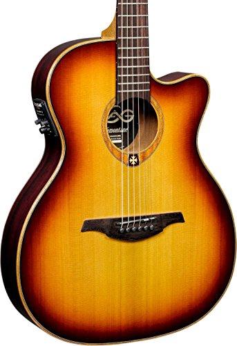 Lag - T100asce brs auditorium guitarra elec. acustica cutaway slim line