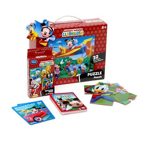 Disney, Micky Maus - Puzzle mit Kartenspiel -
