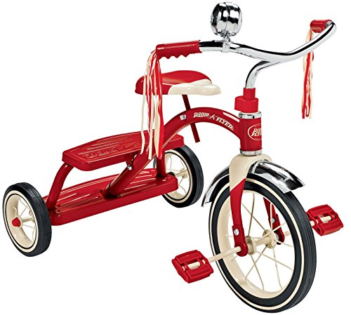 New-Radio-Flyer-Classic-Red-Dual-Deck-Trike-Tricycle-Ride-On-Kids-Bike-Toddler-by-Greenland-Love