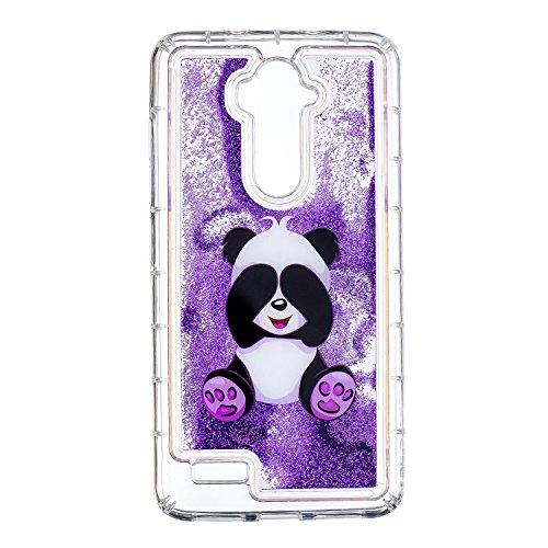 Cozy Hut ZTE Z986 Glitzer Hülle, Treibsand 3D Shiny Transparent Back Cover Glitzer Handyhülle Skin Schale Beschützer Haut Case für ZTE Z986 - Frecher Panda