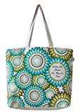 EcoRight Reusable 100% Cotton Canvas EcoFriendly Large Tote Bag Printed