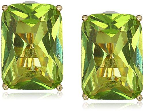 t-tahari-rectangular-faceted-stone-gold-peridot-clip-on-earrings