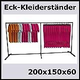 200x150x60 PROFI ECKSTÄNDER KLEIDERSTÄNDER TEXTILSTÄNDER GARDEROBE-K200