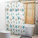 GLJY Thicken Shower Curtain Environmental EVA Waterproof Mildew Shower Curtain Fabric Bathroom Partition Curtain Curtain,White_180cm(H) x200cm(W)