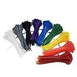 900 Pezzi Fascette per Cablaggio Colorate Fermacavo Fascette Stringicavo Elettricista Nylon Cavi Stringicavo, 3 * 100mm