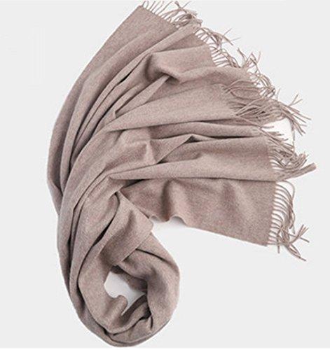 Écharpe épaississante Grand châle Noir Printemps Automne et hiver Femme Double usage Longue section Couleur solide ( couleur : # 6 ) # 6