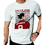 Zupaco Men's Round Neck | Zlatan United | Half Sleeve | Cotton | Designed for Manchester United Fans | D12 |United Theme T-Shirt (X_Large)