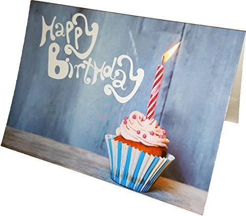 """Geburtstagskarte """"Happy Birthday"""", DIN A6 mit Umschlag, 5er-Pack"""