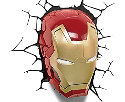 Marvel 3D Led Light Ironman Mask-Parent