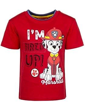 Paw Patrol T-Shirt für Kinder, original Lizenzware, rot, Gr. 98 - 116